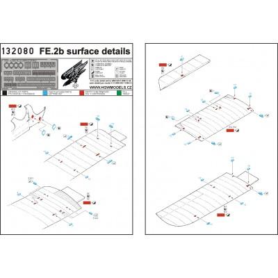 Fokker D.VII - Surface Details 1/32 - 132102