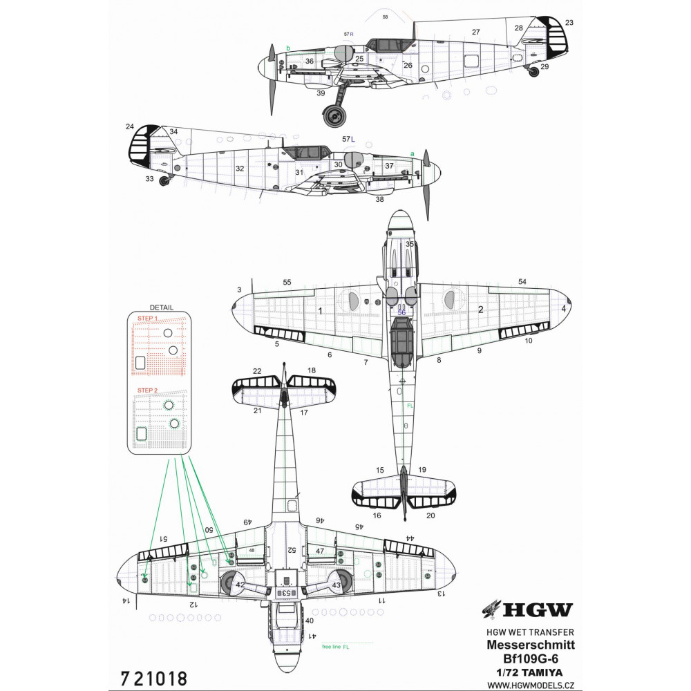 Spitfire HF Mk. VIII - Stencils & Markings 1/48 - 248048
