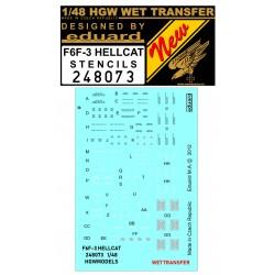 F6F-3 Hellcat - Stencils 1/48 - 248073