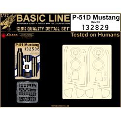 P-51D Mustang (Revell)  - Basic Line Plus 1/32 - 132829