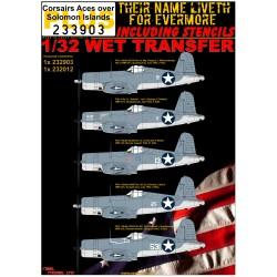 F4U-1 Corsairs Aces over Solomon Islands + STENCILS -...