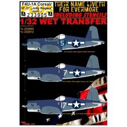 "F4U-1A VF-17 ""Jolly Rogers"" + STENCILS - 1/32 - 233905"