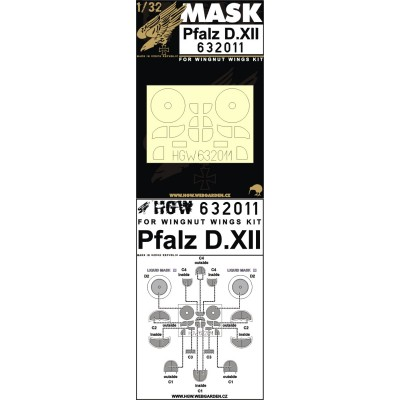 Pfalz D.XII - Masky 1/32 - 632011