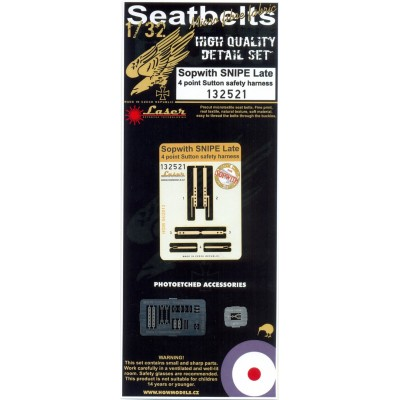 Sopwith Snipe (Late) - Seatbelts 1/32 - 132521