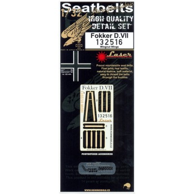 Fokker D.VII - Seatbelts 1/32 - 132516