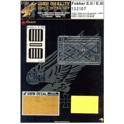 Fokker E.II & E.III - Super Detail Set 1:32 - 132107