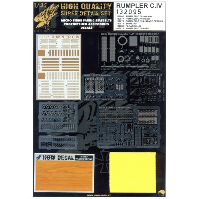 Rumpler C.IV - Super Detail Set 1:32 - 132095