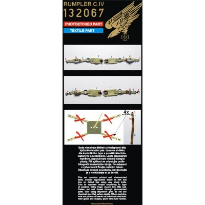 PFALZ D.IIIa - PE Set & Decal 1/32 - 132021