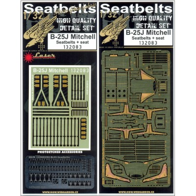 B-25 Mitchell - Seatbelts & Seats 1:32 - 132083