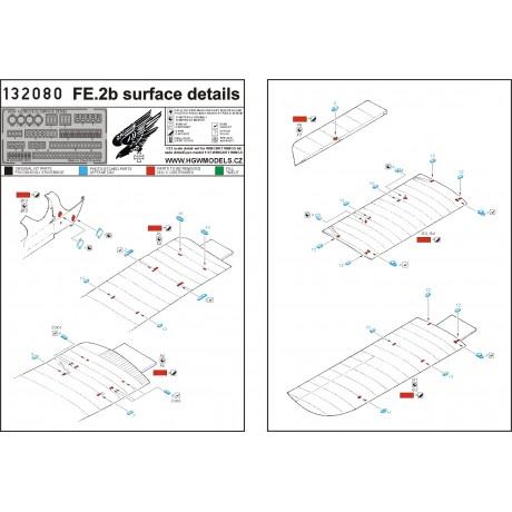 Fokker D.VII - Povrchové detaily 1/32 - 132102