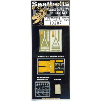 P-51D Mustang - Seatbelts & Dinghy 1:32 - 132071