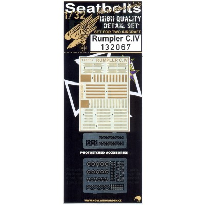 Rumpler C.IV - Seatbelts 1:32 - 132067