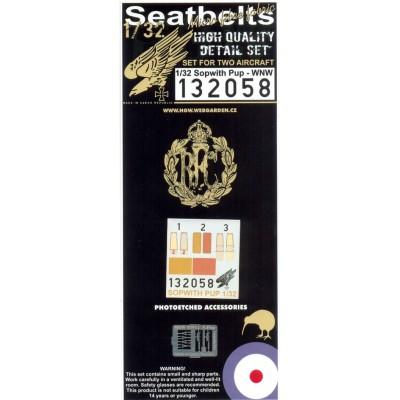 Sopwith Pup - Seatbelts 1:32 - 132058
