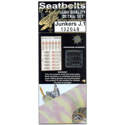 Junkers J.1 - Seatbelts 1:32 - 132048
