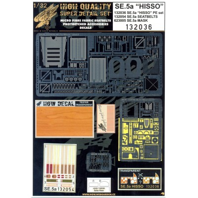SE.5a HISSO - Super Detail Set 1:32 - 132036
