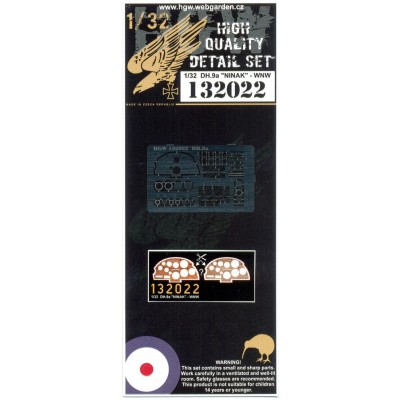 DH.9a Ninak - PE Set & Decal 1/32 - 132022