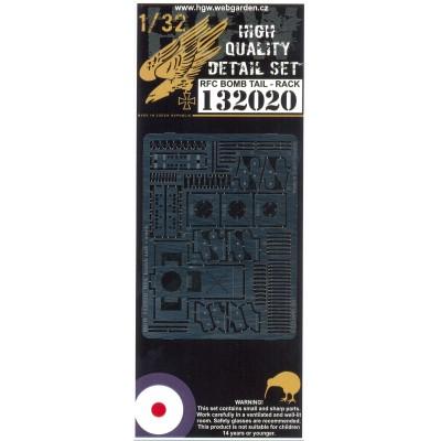 R.F.C. Bomb Tail-Rack - Fotolepty 1/32 - 132020