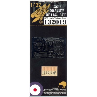 R.F.C. Lewis & Vickers Guns - PE Set 1/32 - 132019
