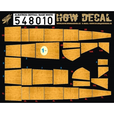 Albatros D.III Oeffag - Base White Decal 1/48 - 548010