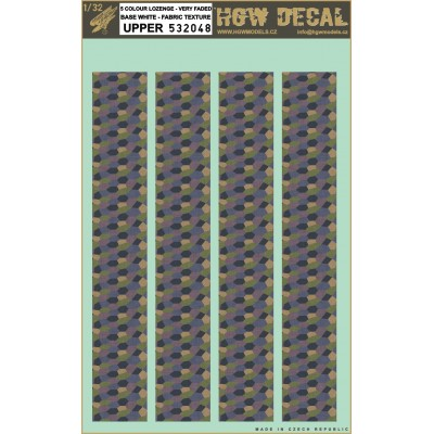 5 Colour Lozenge Upper - Base White 1/32 - 532048