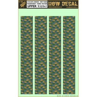 4 Colour Lozenge Upper - Transparent 1/32 - 532041