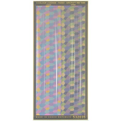5 Colour Lozenge - Aircraft Rib Tapes 1/32 - 532035