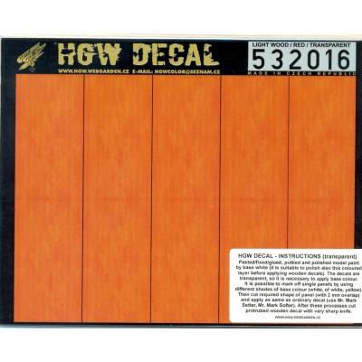 Načervenalé světlé dřevo - Transparentní 1/32 - 532016