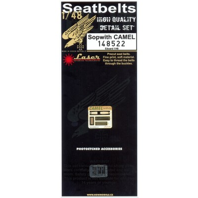 Sopwith CAMEL - Seatbelts 1/48 - 148522