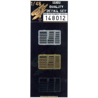 WWI Instrument Bezels - PE Set 1/48 - 148012