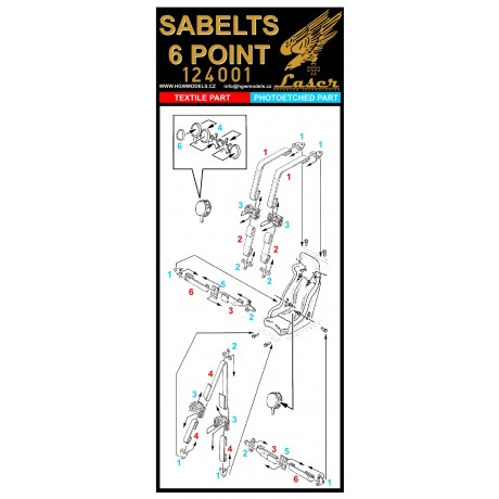 Roland D.VIb - Seatbelts 1/32 - 132543