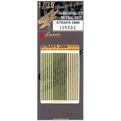 Straps 2mm - Belts 1/35 - 135502