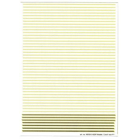 Dvojité & trojité řady - Nýty 0,60 mm 1/48 - 482012