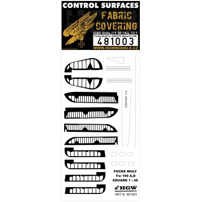 Fw 190A/D/F - Control Surfaces 1/48 - 481003