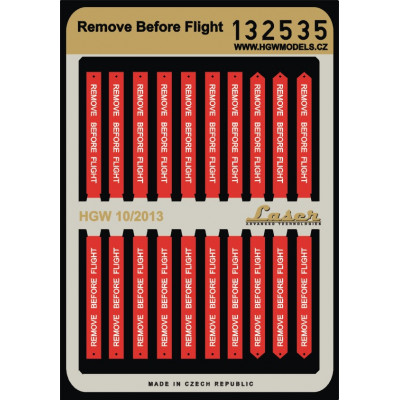 Remove Before Flight - Pásy 1:32 - 132535