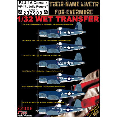 "F4U-1A, VF-17 ""JOLLY ROGERS"" - PART 4 - 1/32 - 232908"