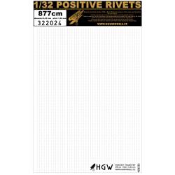 Positive Rivets 1/32 - 877cm- pitch 1,20mm- 322024