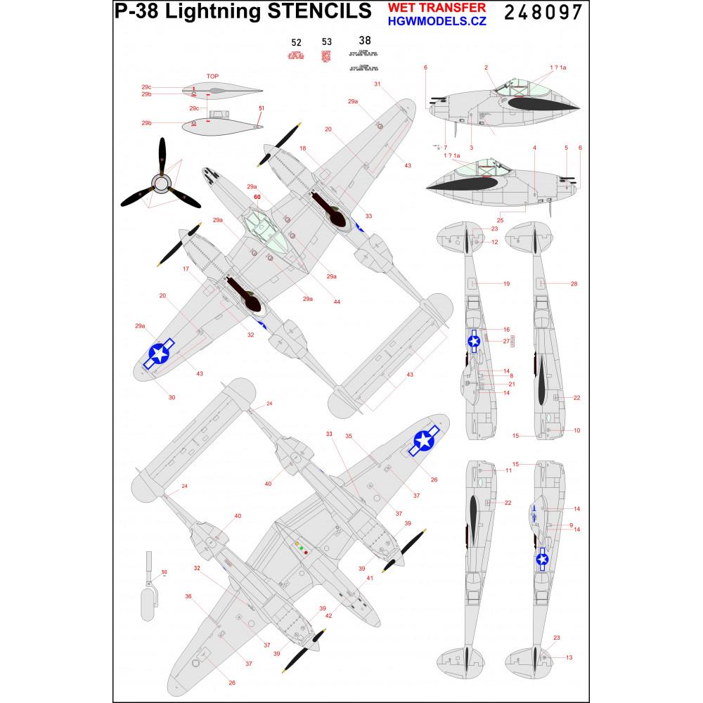 F4U-1 Corsair - Stencils 1/32 - 232012
