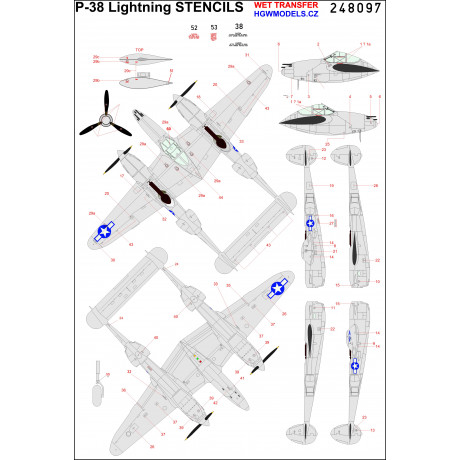 F4U-1 Corsair - Popisky 1/32 - 232012