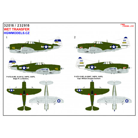 Hawker Tempest Mk. V - Stencils 1/32 - 232016