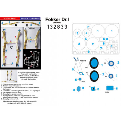 Sopwith F.1 Camel Clerget - Popisky 1/32 - 232018