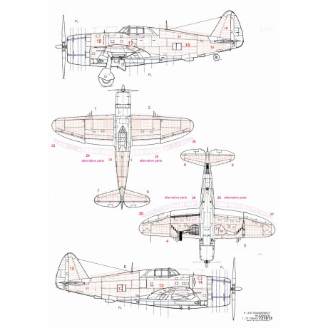 L-29 Delfín - Stencils & Markings 1/48 - 248040