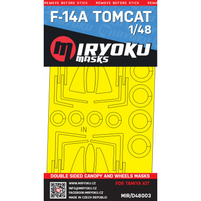 F-14A TOMCAT -  Double sided masks - 1/48 - MIR/D48003