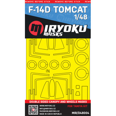 F-14D TOMCAT -  Double sided masks - 1/48 - MIR/D48004