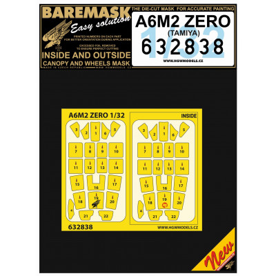 A6M2 ZERO - Masky 1/32 - 632838