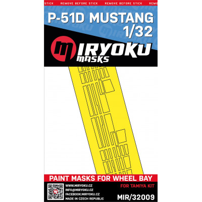P-51D Mustang - Paint masks for wheel bay - 1/32 - MIR/32009