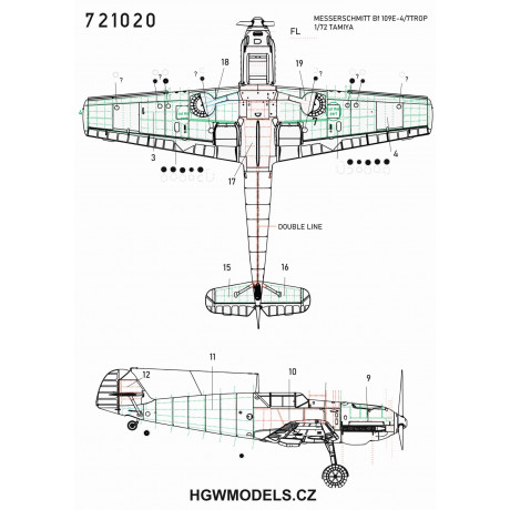 P-47D - Riveting Set 1/32 - 321022