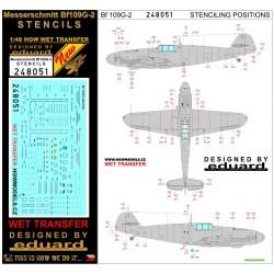 Bf109G-2 - Stencils 1/48 - 248051
