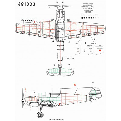 Mitsubishi A6M5c Zero - Super Riveting Set 1/32 - 321021