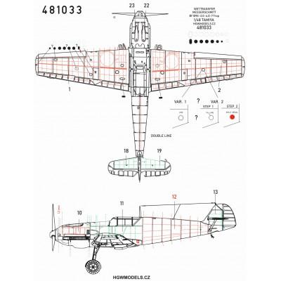 Mitsubishi A6M5c Zero - Velká nýtovací sada 1/32 - 321021