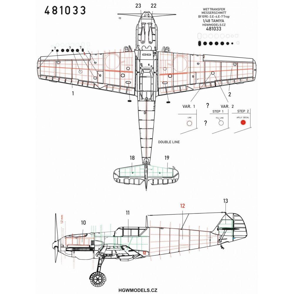 Mitsubishi A6M5c Zero - Super Riveting Set 1/32 - 321021